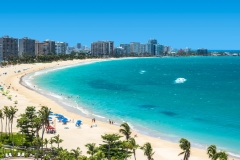 View of Isla Verde Beach, Puerto Rico