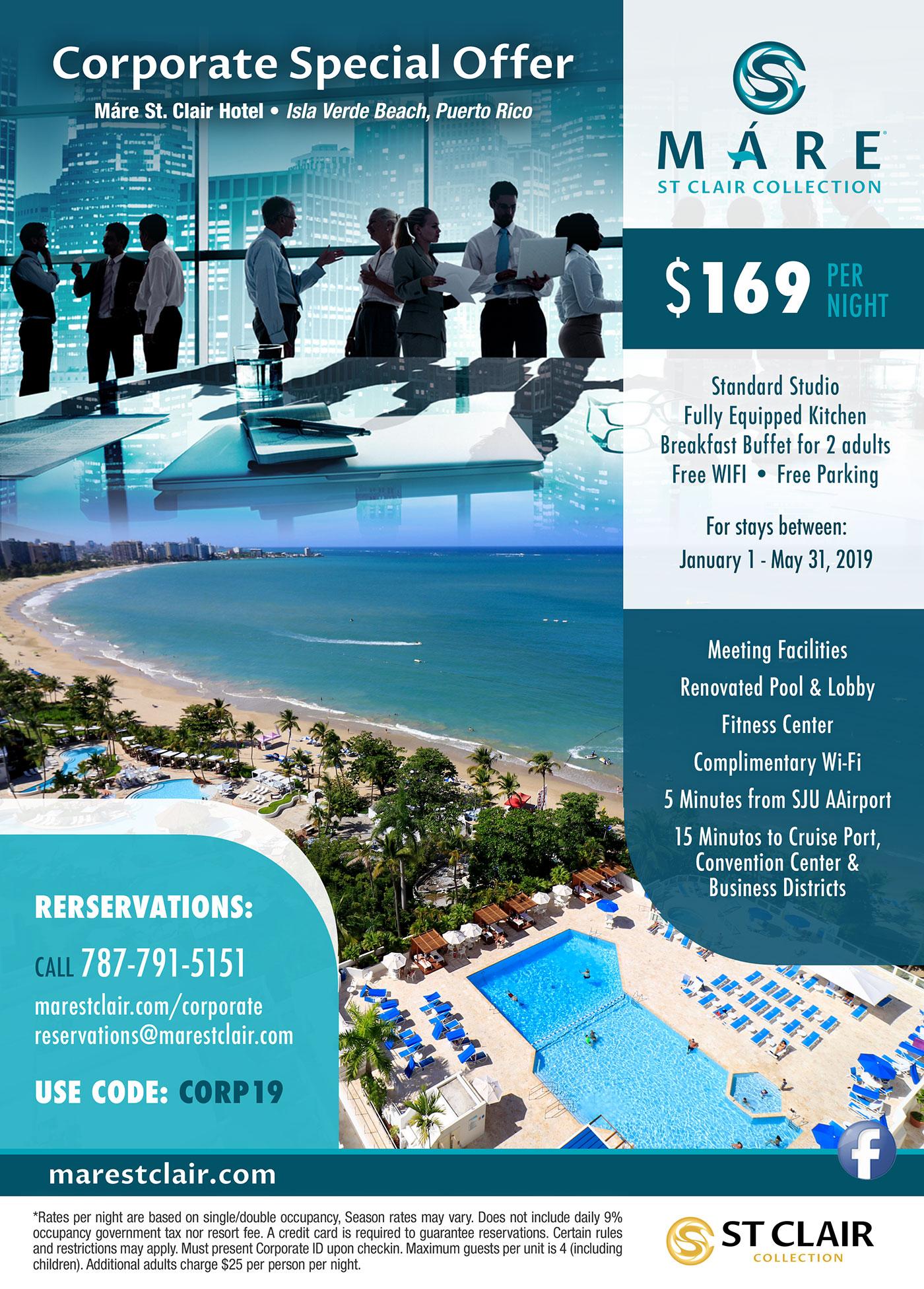 Corporate Offer - Máre St Clair Hotel Isla Verde Beach