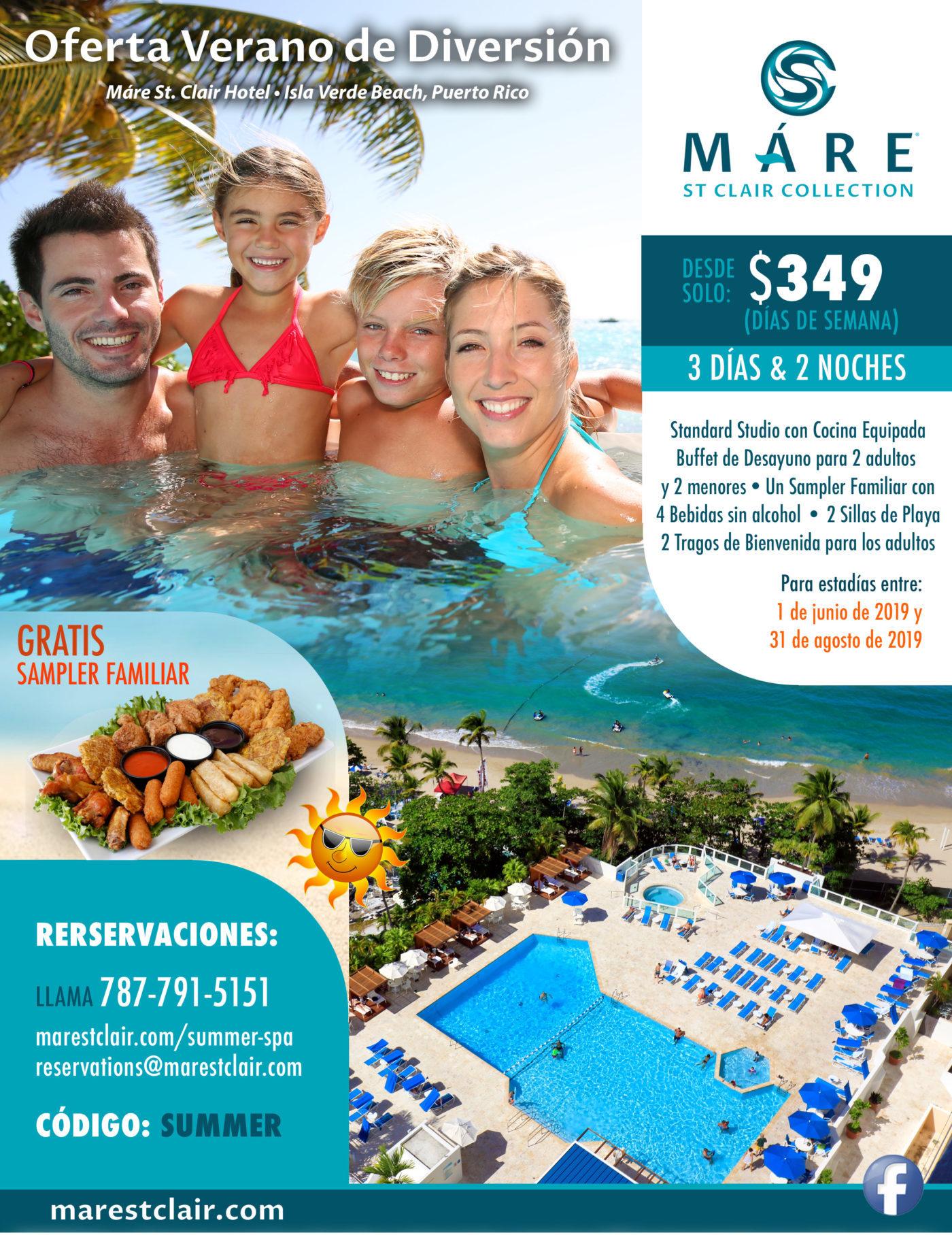 Oferta Verano de Diversión, Máre St. Clair Hotel, Isla Verde Beach, Puerto Rico
