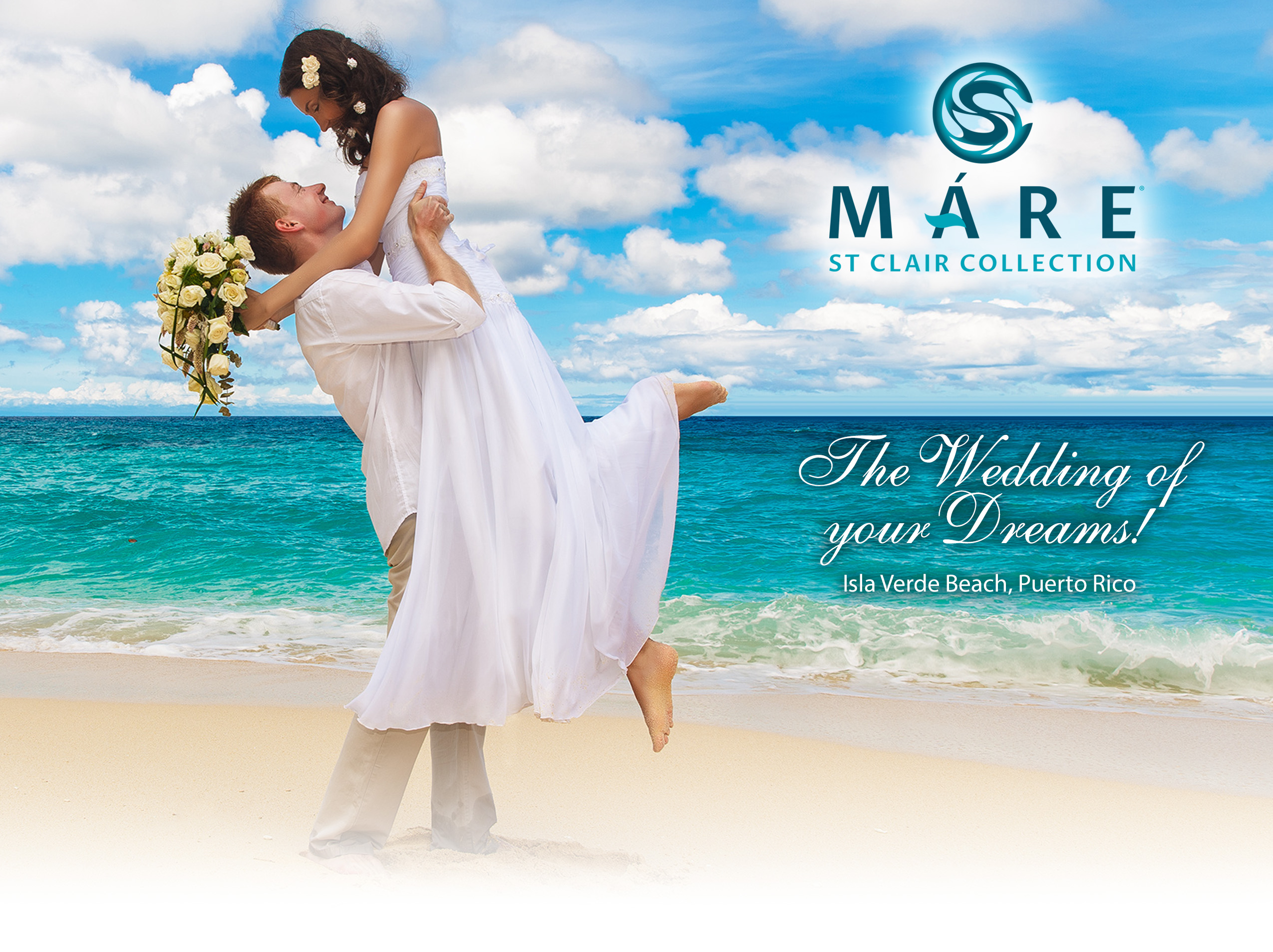 Puerto Rico Wedding Package.Destination Weddings Mare St Clair Hotel Isla Verde Beach